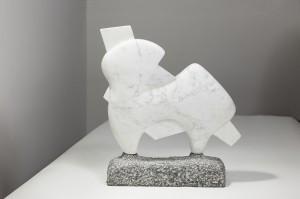 uman in the Animal - mramor, žula, 35x40x10 cm