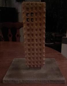 Model památníku světlo, mříže